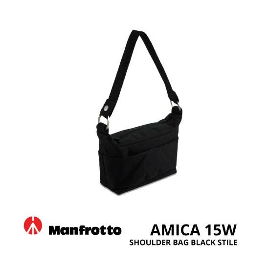 jual Manfrotto Amica 15W Shoulder Black Stile