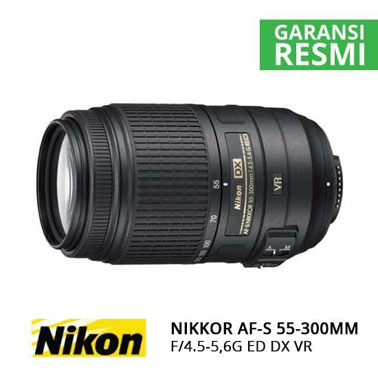 jual Nikon AF-S 55-300mm F/4.5-5,6G ED DX VR Nikkor