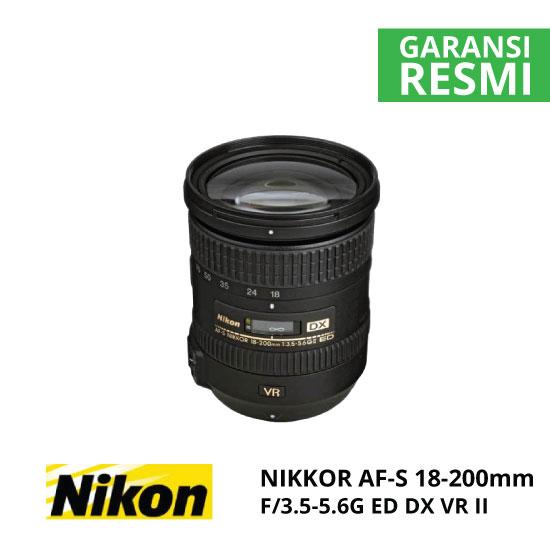jual Nikon AF-S 18-200mm f/3.5-5.6G ED DX VR II Nikkor