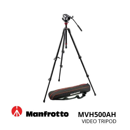jual Manfrotto Tripod Video MVH500AH 755XBK MBAG80PN