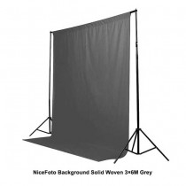 NiceFoto Background Solid Woven 3×6M Grey