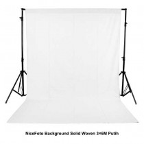NiceFoto Background Solid Woven 3×6M Putih