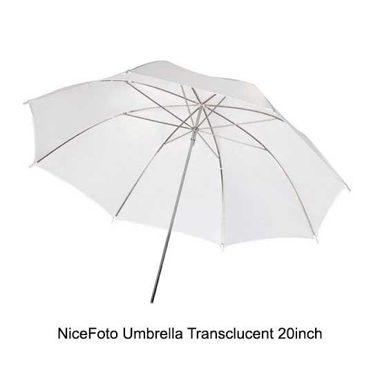 NiceFoto Umbrella Transclucent 20inch