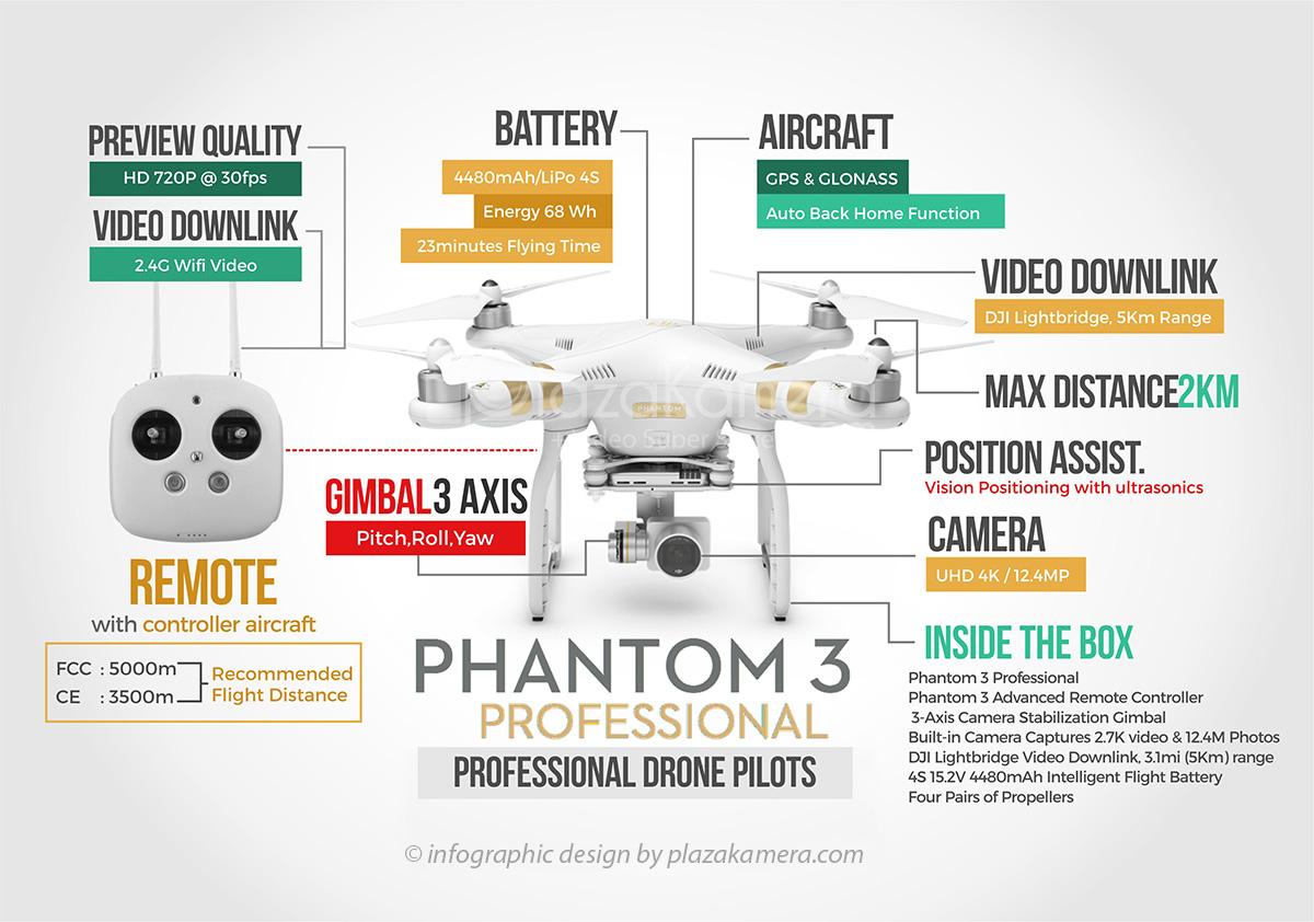 Jual DJI Phantom 3 Professional Quadcopter Harga Murah Toko Drone Online