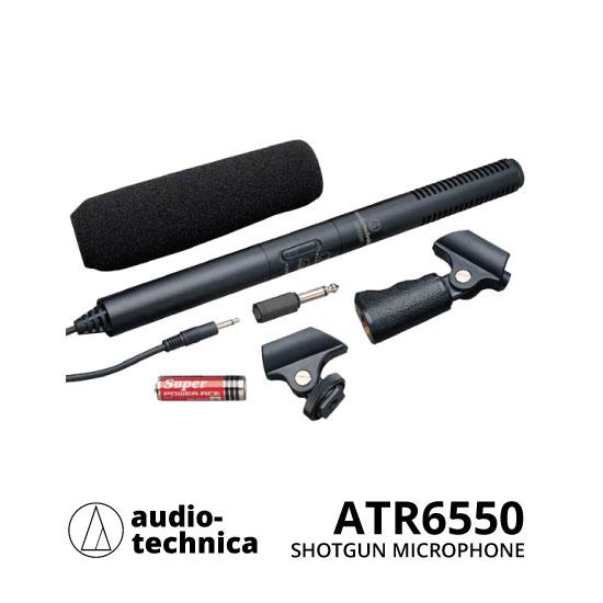 jual Audio Technica ATR6550 Condenser Shotgun Microphone