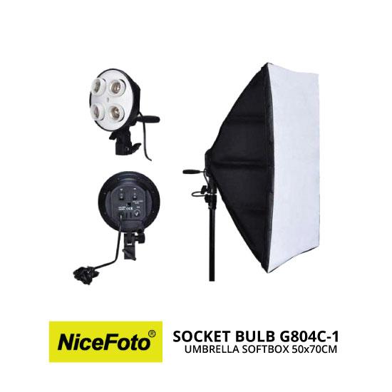 jual NiceFoto Socket Bulb G804C-1 with Softbox 50x70cm