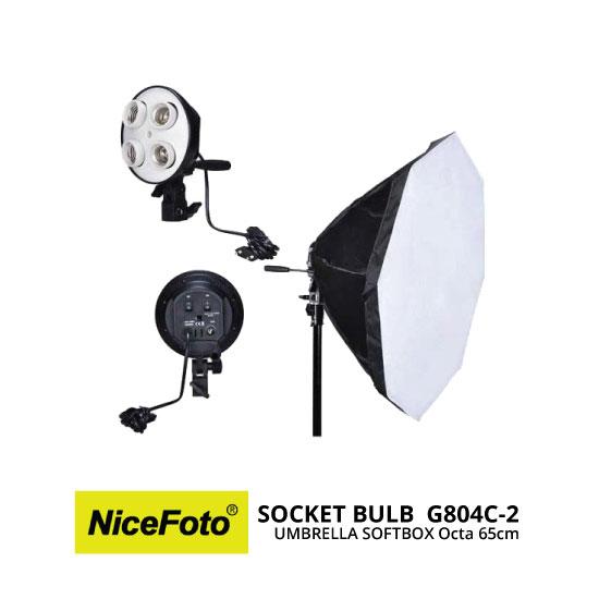 jual NiceFoto Socket Bulb G804C-2 with Softbox Octa 65cm