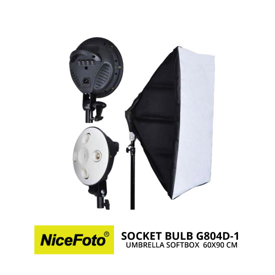 jual NiceFoto Socket Bulb G804D-1 with Softbox 60X90cm