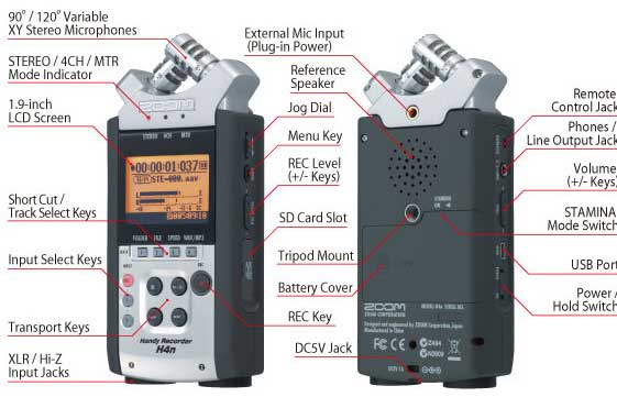 ZOOM H4N Recorder + APH-4N Accessory