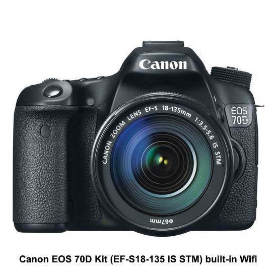 Canon EOS 70D Kit (EF-S18-135 IS STM) built-in Wifi