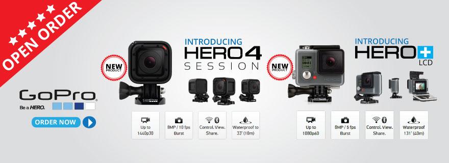 Pre-Order GoPro Hero4 Session dan GoPro Hero plus LCD