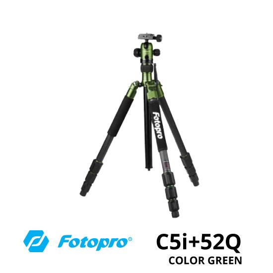 JUAL Fotopro C5i+52Q Tripod Green