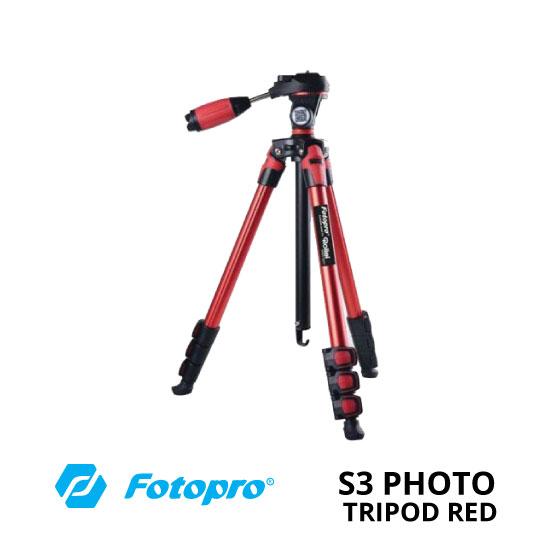 jual Fotopro S3 Photo Tripod Red