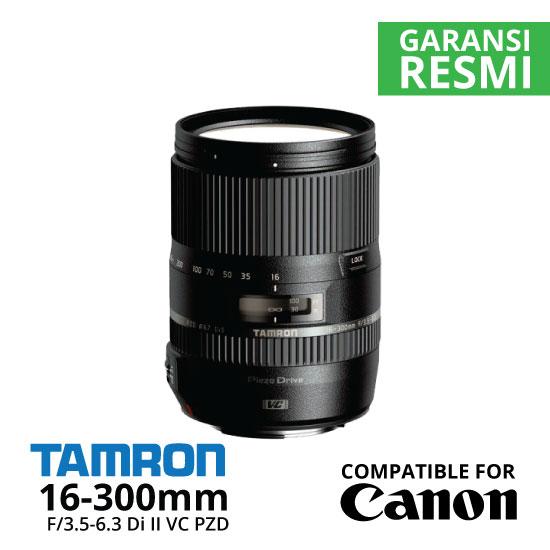 Jual Lensa Tamron Canon 16-300mm f/3.5-6.3 Di-II VC PZD Macro untuk Canon Harga Murah Surabaya & Jakarta