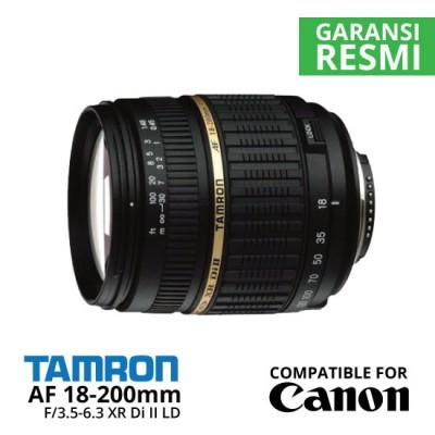 Jual Lensa Tamron AF 18-200mm Canon f/3.5-6.3 XR Di II LD Aspherical (IF) Macro Harga Murah Surabaya & Jakarta