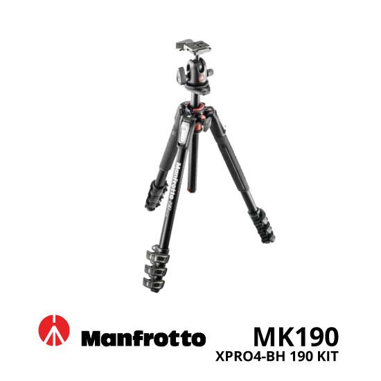 jual Manfrotto MK190XPRO4-BH 190 Kit Aluminum Tripod