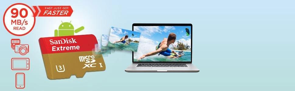 Sandisk Extreme MICROSDHC 90MbS - 64GB