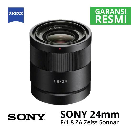 Jual Lensa Sony 24mm f/1.8 ZA E-Mount Carl Zeiss Sonnar Harga Murah Surabaya & Jakarta