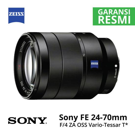 Jual Lensa Sony FE 24-70mm f/4 ZA OSS Vario-Tessar T* Harga Murah Surabaya & Jakarta