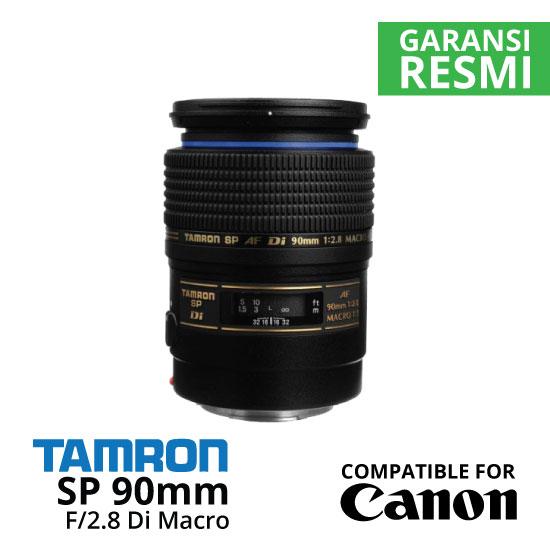 Jual Lensa Tamron SP 90mm Canon f/2.8 Di Macro Autofocus Harga Murah Surabaya & Jakarta