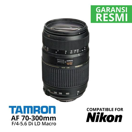 Jual Lensa Tamron Nikon AF 70-300mm f/4-5.6 Macro untuk Nikon Harga Murah Surabaya & Jakarta
