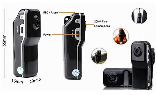 Mini DV Camera Clip