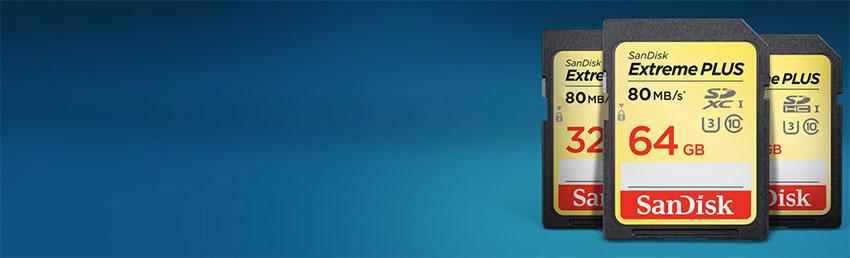 Sandisk Extreme Plus SDHC 80Mbs - 16GB