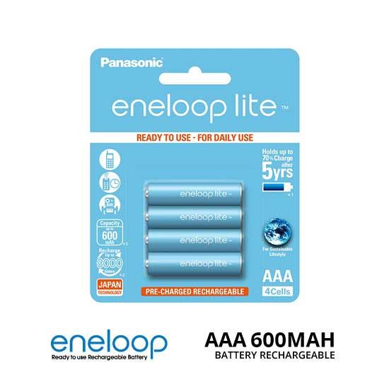 Jual Panasonic Eneloop Lite AAA 600mAh isi 4 Baterai