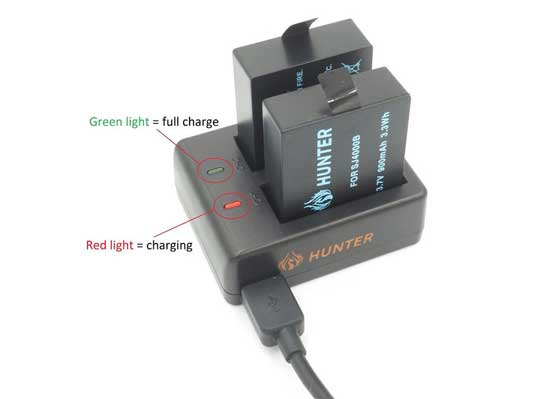 Jual Hunter Battery + Charger For Hero 4