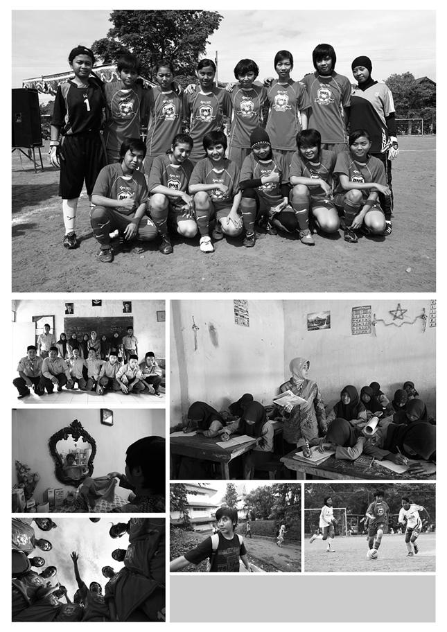 """Bu Guruku Seorang Striker"", salah satu photo story karya Ichwan Susanto.."