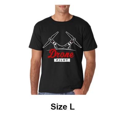 JUal T-Shirt Drone Pilot Size L