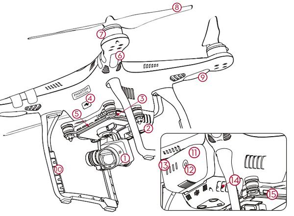 aircraft drone phantom3 lebih detail surabaya indonesia