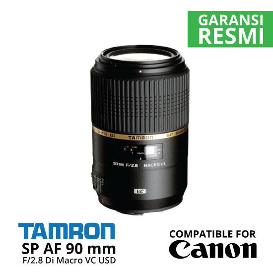 Jual Lensa Tamron SP AF 90 mm Canon Di Macro VC USD F2.8 Harga Murah Surabaya & Jakarta