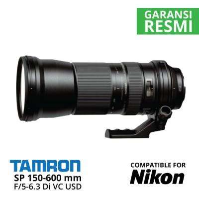 Jual Lensa Tamron Nikon SP 150-600 mm Di VC USD F/5-6.3 Harga Murah Surabaya & Jakarta