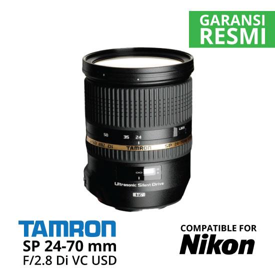 Jual Lensa Tamron Nikon SP 24-70 mm Nikon Di VC USD F/2.8 Harga Murah Surabaya & Jakarta