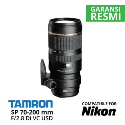 Jual Lensa Tamron Nikon SP 70-200 mm Di VC USD F/2.8 Harga Murah Surabaya & Jakarta