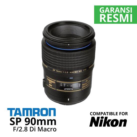 Jual Lensa Tamron Nikon SP 90mm f/2.8 Di Macro untuk Nikon Harga Murah Surabaya & Jakarta