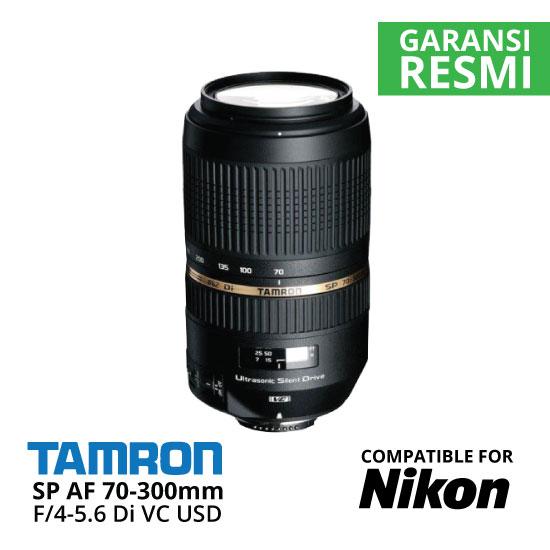 Jual Lensa Tamron SP AF 70-300 mm Nikon Di VC USD F/4-5.6 Harga Murah Toko Aksesoris Kamera Indonesia