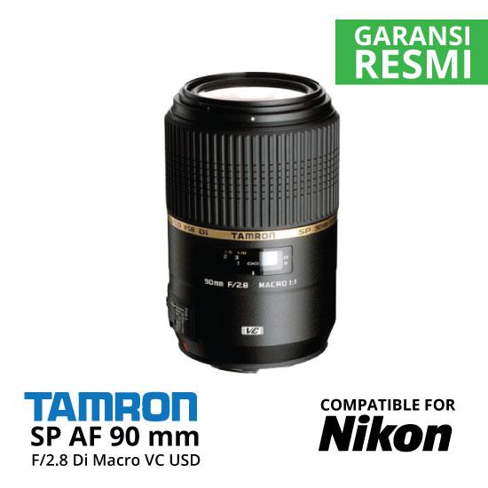 Jual Lensa Tamron SP AF 90 mm Nikon Di Macro VC USD F2.8 Harga Murah Toko Kamera Online Indonesia