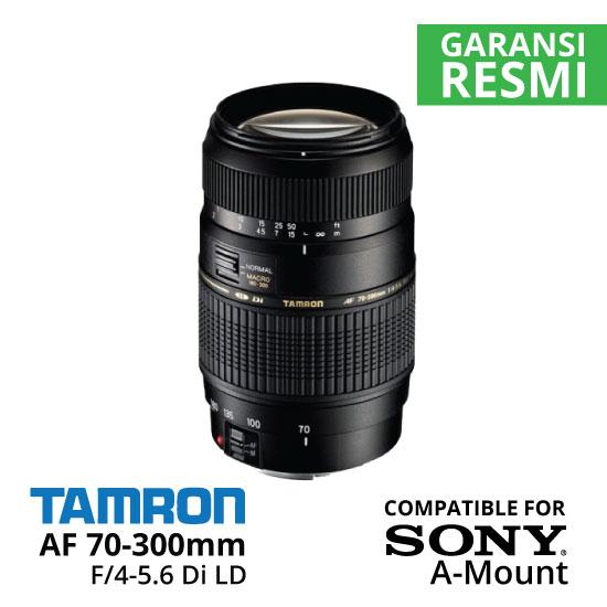 Jual Lensa Tamron Sony AF 70-300mm f/4-5.6 DI LD untuk Sony A Mount Harga Murah Surabaya & Jakarta