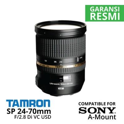Jual Lensa Tamron Sony SP 24-70 mm Di VC USD F/2.8 Sony A-Mount Harga Murah Surabaya & Jakarta