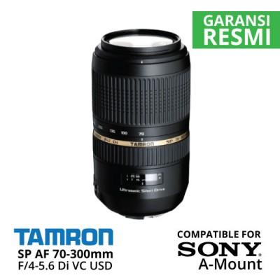 Jual Lensa Tamron SP AF 70-300 mm F/4-5.6 Sony Di VC USD Sony A-Mount Harga Murah Toko Aksesoris Kamera Indonesia