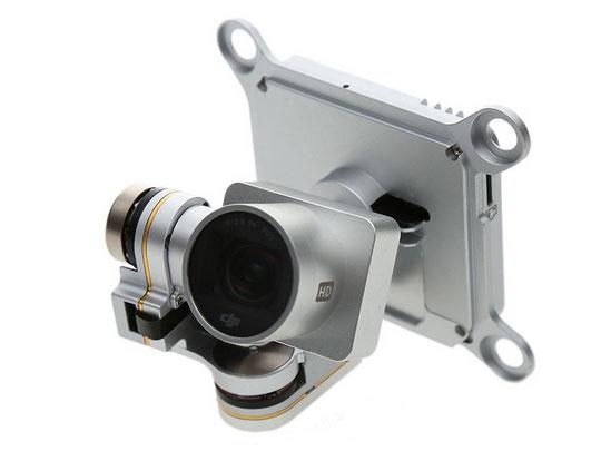 Jual Sparepart kamera 2.7K yang sudah dilengkapi gimbal untuk menggantikan kamera dari DJI Phantom 3 Advanced