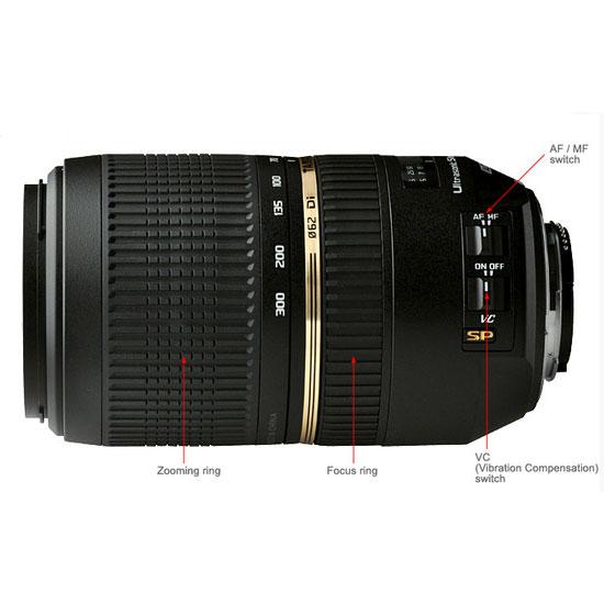 Jual Tamron SP AF 70-300 mm Di VC USD F/4-5.6 For Nikon
