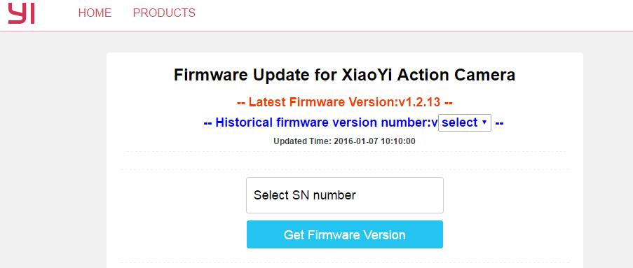 Form Serial Number Xiaomi Yi