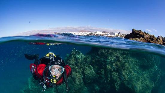 Half Underwater Photography