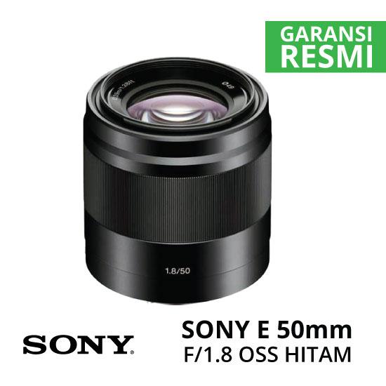 Sony E 50mm f 1.8 OSS Hitam