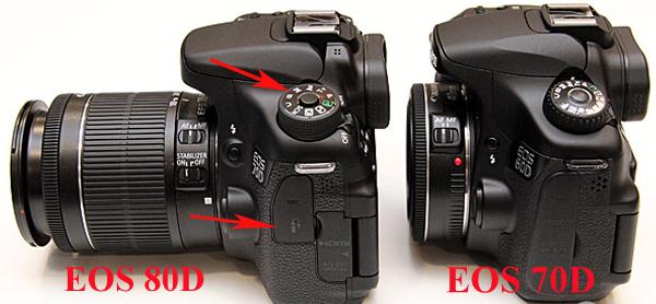 EOS 80D VS 70D