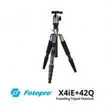 jual Fotopro X4iE+42Q Travelling Tripod Titanium