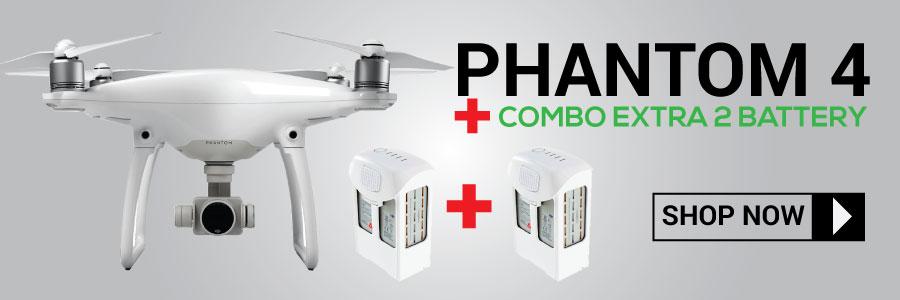 Jual DJI Phantom 4 Combo 2 Extra Battery